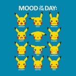 Pokemon - Pikachu Mood of the Day T-Shirt - Packshot 2