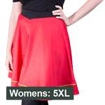 Star Trek - Engineering TOS Uniform Women's Skirt - Red - Size: 5XL - Packshot 1