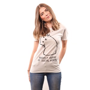 Vaguely Aware of Social Norms T-Shirt - Clothing