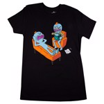 Rick and Morty - Meeseeks Therapy Black T-Shirt - Packshot 1