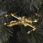 Star Wars - Gold Tie fighters and X-wings 6 Pack Holiday Decorations - Packshot 3