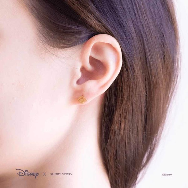 Disney - Mulan - Fan & Sword Short Story Gold Stud Earrings - Packshot 4
