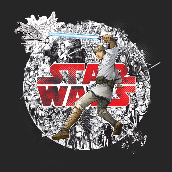 Star Wars - Luke Comic T-Shirt - Size: XL - Packshot 2