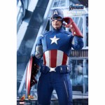 "Avengers 4 - Endgame - Captain America 2012 1/6 Scale 12"" Action Figure - Packshot 3"