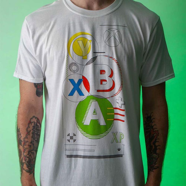 Xbox Buttons White T-Shirt - M - Packshot 3