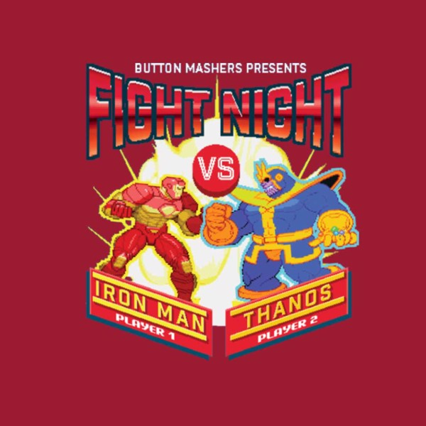 Marvel - Marvel 80th Anniversary - Marvel Fight Night Red T-Shirt - M - Packshot 2