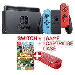Nintendo Switch Neon Console + 1 Game and Cartridge Case - Packshot 1