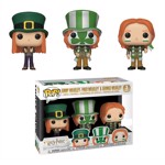 Harry Potter - Ginny , Fred & George Weasley World Cup Pop! 3 Pack Vinyl Figure - Packshot 1
