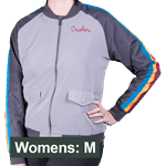 Star Trek - Wesley Crusher Women's Bomber Jacket - Grey - Size: M - Packshot 1