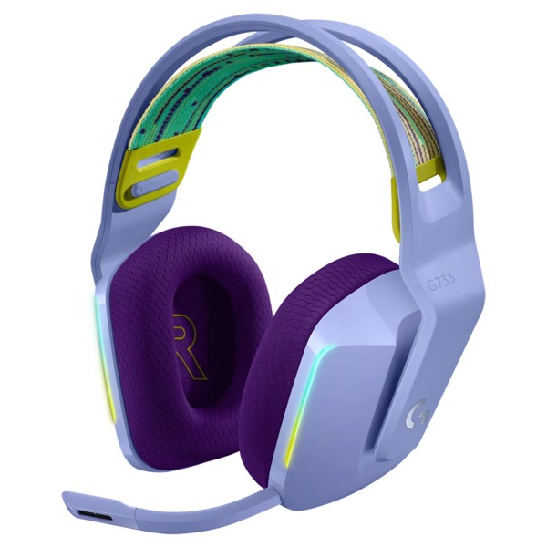 Logitech G733 Lightspeed Wireless RGB Gaming Headset - Lilac - Packshot 1