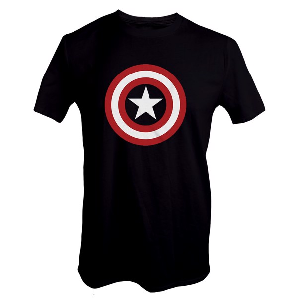 Marvel - Captain America Shield Black T-Shirt - L - Packshot 1