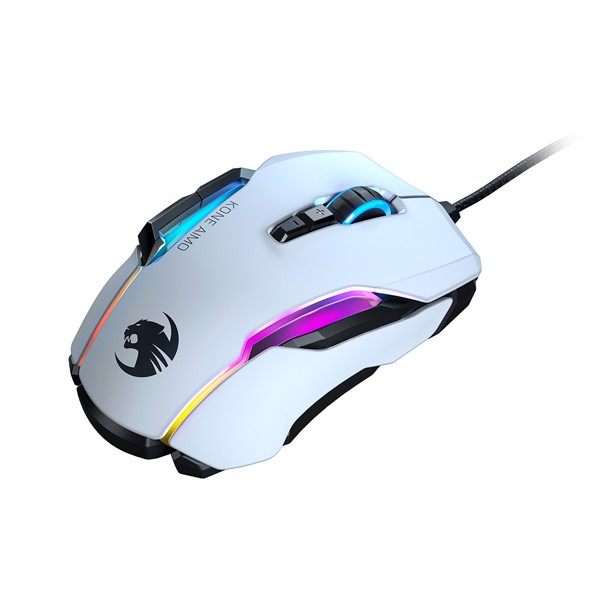 ROCCAT Kone AIMO RGB Gaming Mouse - White - Packshot 3