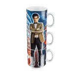 Doctor Who - Tenth & Eleventh Doctor Stacked Mugs Set of 3 - Packshot 1