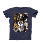 Overwatch - Shattered Characters Grey T-Shirt - M - Packshot 1
