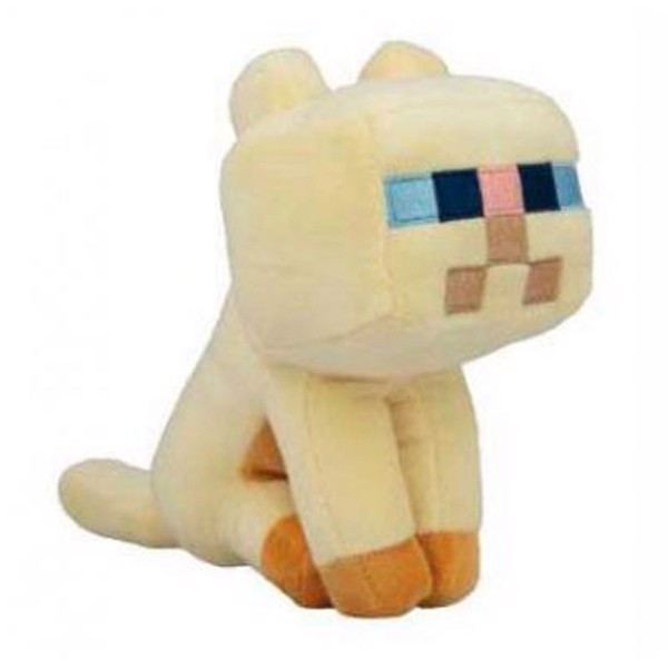 Minecraft - Happy Explorer Persian Cat 18cm Plush Figure   - Packshot 1