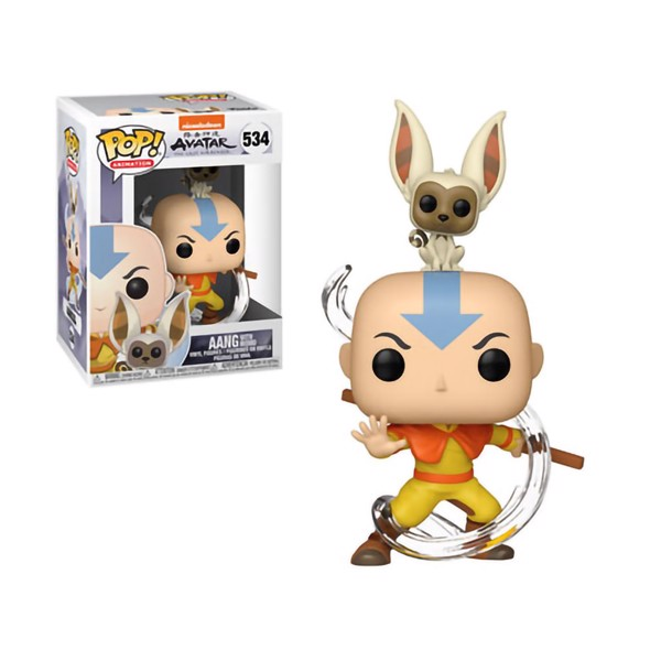 Avatar: The Last Airbender - Aang With Momo Pop! Vinyl Figure - Packshot 1