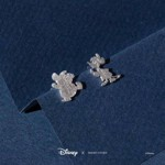 Disney - Cinderella - Jaques & Gus Short Story Silver Stud Earrings - Packshot 2