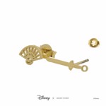 Disney - Mulan - Fan & Sword Short Story Gold Stud Earrings - Packshot 3