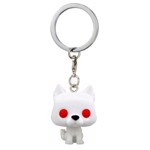 Game of Thrones - Ghost Flocked Pocket Pop! Keychain - Packshot 1