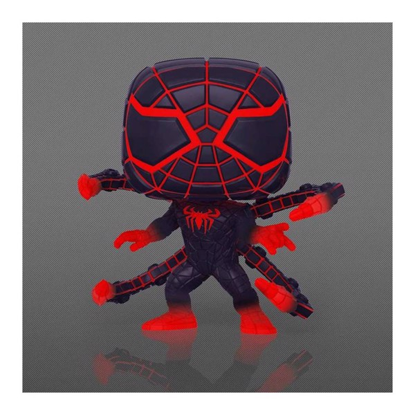 Marvel - Spider-Man: Miles Morales Programmable Matter Suit Glow Pop! Vinyl Figure - Packshot 2