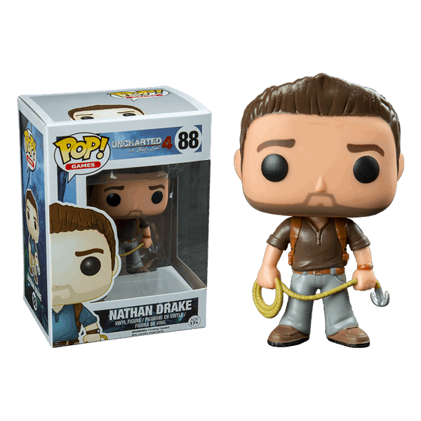 Uncharted - Nathan Drake with Brown Shirt Pop! Vinyl Figure - Packshot 1