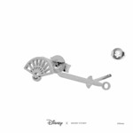 Disney - Mulan - Fan & Sword Short Story Silver Stud Earrings - Packshot 3