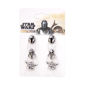 Star Wars - The Mandalorian - 3 Pack Earrings - Clothing