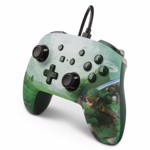 Nintendo Switch PowerA Wired Enhanced Controller - Hyrule Green - Packshot 3