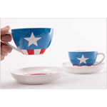 Marvel - Captain America Tea Cup & Saucer Set of 2 - Packshot 3