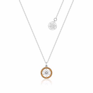 Disney - Frozen 2 Disney Couture Snowflake November Citrine Birthstone Necklace