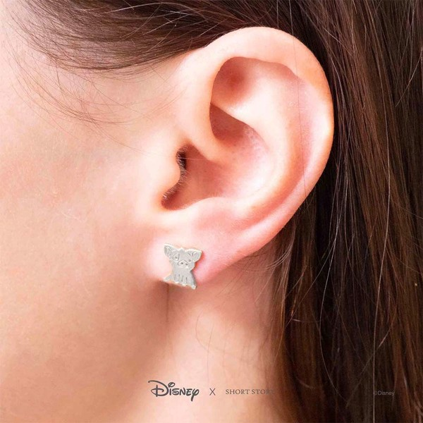 Disney - Moana & Pua Short Story Silver Stud Earrings - Packshot 4