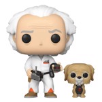 Back to The Future - Doc Brown with Einstein Pop! Vinyl Figure - Packshot 1