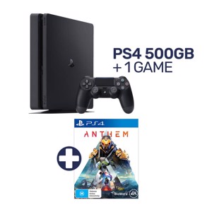 PlayStation 4 500GB Console + 1 Game