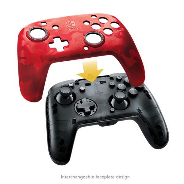 Faceoff Deluxe+ Audio Wired Controller - Red Camo - Packshot 4