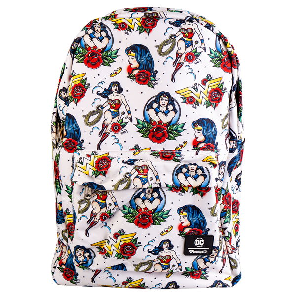 DC Comics - Wonder Woman Tattoo All-Over Print Loungefly Backpack - Packshot 1