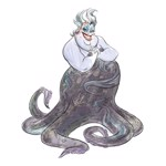 Disney - The Little Mermaid - Ursula Watercolour T-Shirt - Packshot 2