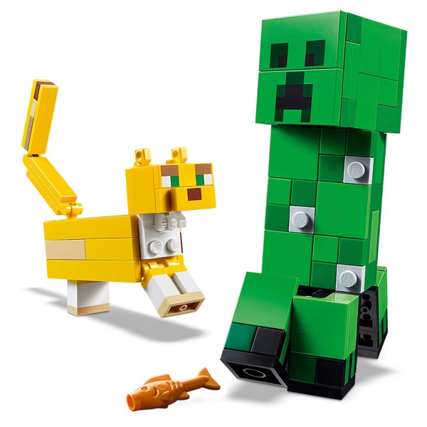 Minecraft - LEGO BigFig Creeper™ and Ocelot - Packshot 3