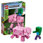 Minecraft - LEGO BigFig Pig with Baby Zombie - Packshot 1