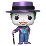 DC Comics - Batman 1989 - Joker with Hat Metallic Pop! Vinyl Figure - Packshot 1