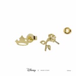 Disney - Sleeping Beauty - Rose & Crown Short Story Gold Stud Earrings - Packshot 3