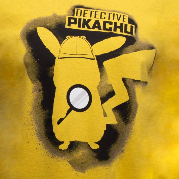 Pokemon - Detective Pikachu Silhouette Yellow T-Shirt - XL - Packshot 2