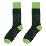 Xbox - Pattern Black and Green Socks - Packshot 1
