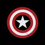Marvel - Captain America Shield Black T-Shirt - M - Packshot 2