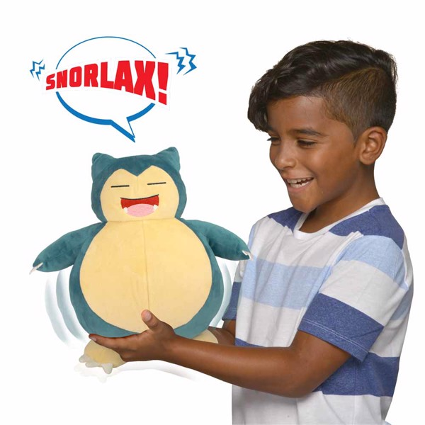 Pokemon - Snooze Action Snorlax Plush - Packshot 4