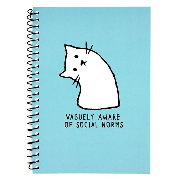 Vaguely Aware of Social Norms Notebook - Packshot 1
