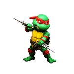 Teenage Mutant Ninja Turtles - Raphael HEROCROSS Hybrid Metal Figure - Packshot 1