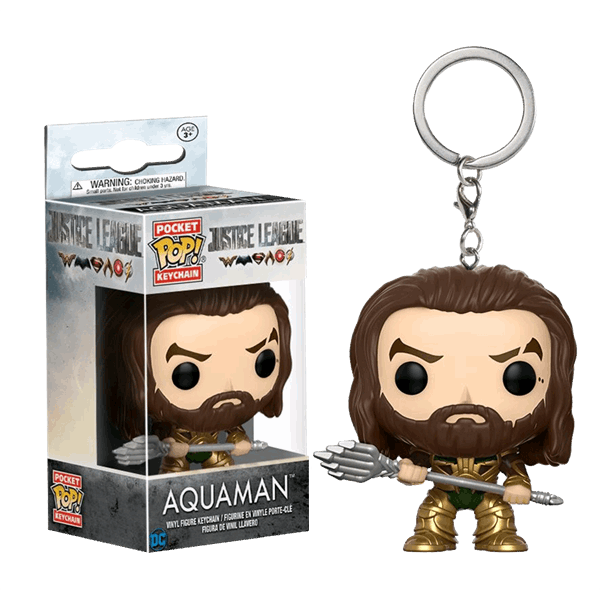 DC Comics - Justice League - Aquaman Pop! Keyring Vinyl Figure - Packshot 1