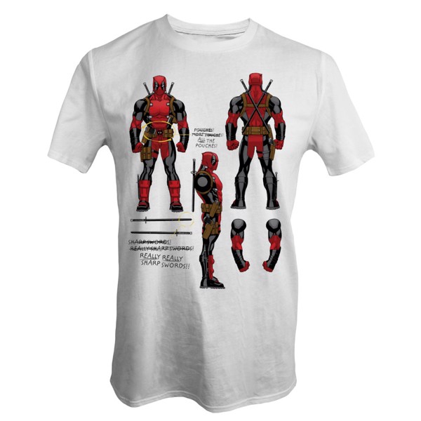 Marvel - Deadpool Notes T-Shirt - Packshot 1