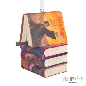 Harry Potter - Books & Wand Hallmark Resin Ornament