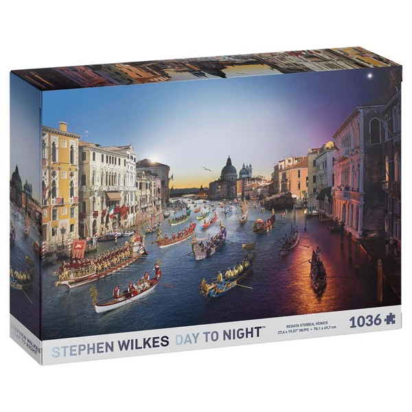 Stephen Wilkes - Regata Storica Venice Day-To-Night 1036-Piece Jigsaw Puzzle - Packshot 1